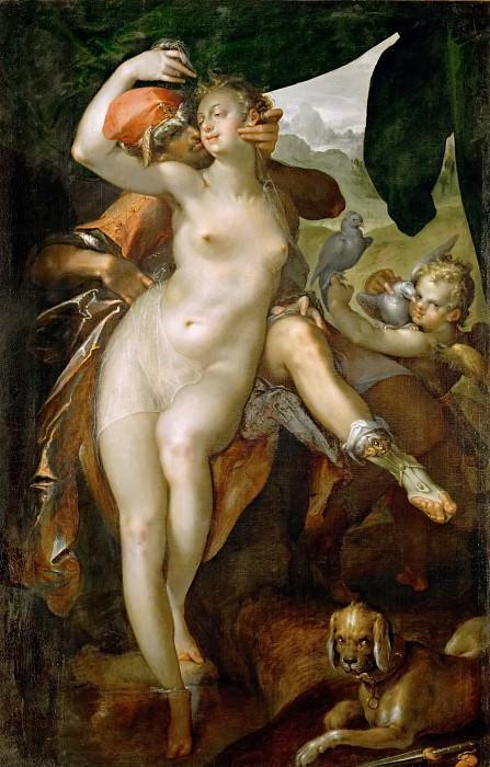 Bartholomaeus Spranger -- Venus and Adonis. Kunsthistorisches Museum