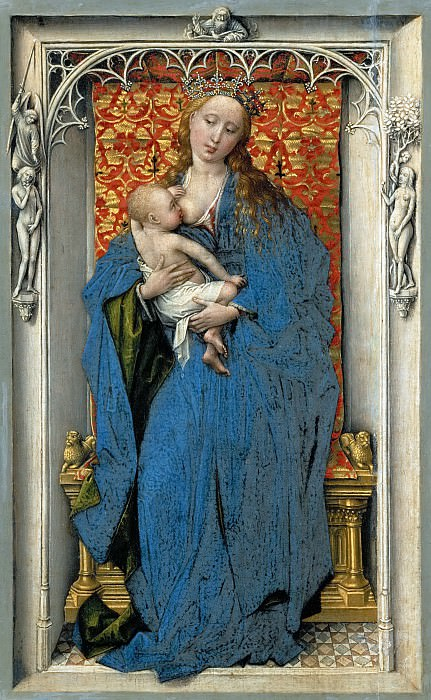 Rogier van der Weyden -- The Virgin and Child Standing in a Niche. Kunsthistorisches Museum