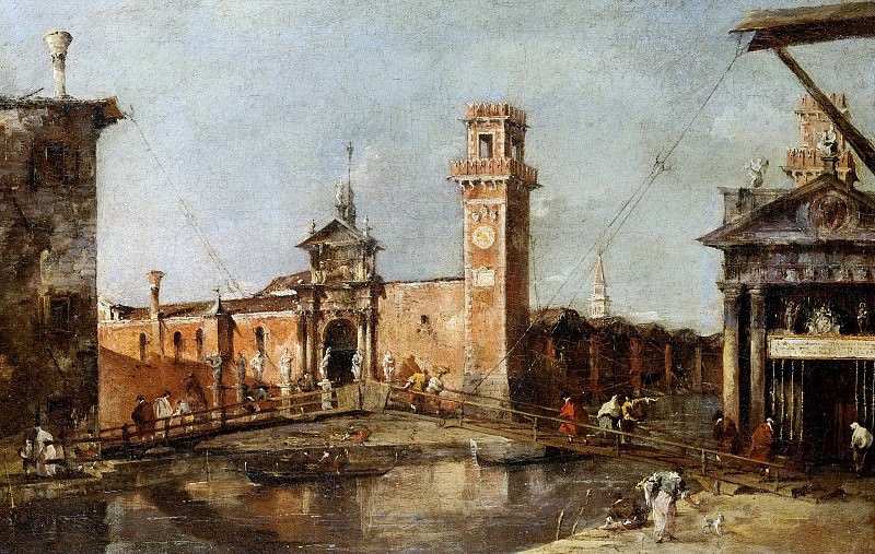 Francesco Guardi -- The Entrance to the Arsenal in Venice. Kunsthistorisches Museum