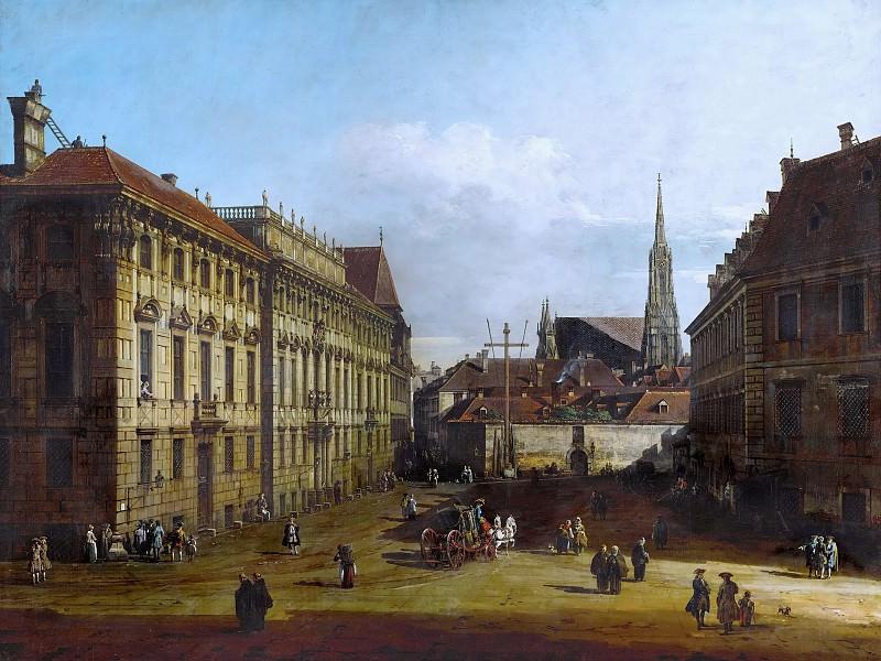 Bernardo Bellotto (1721-1780) -- Lobkowitzplatz in Vienna. Kunsthistorisches Museum