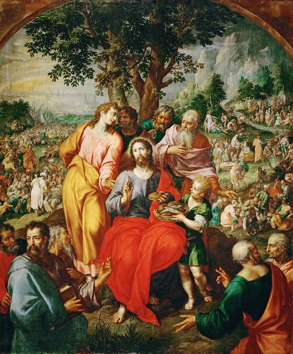 Hendrik de Clerck -- Feeding of the Five Thousand. Kunsthistorisches Museum