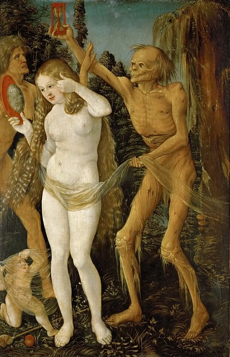 Baldung, Hans (1484/5-1545) -- Three Ages of Woman and Death. Kunsthistorisches Museum