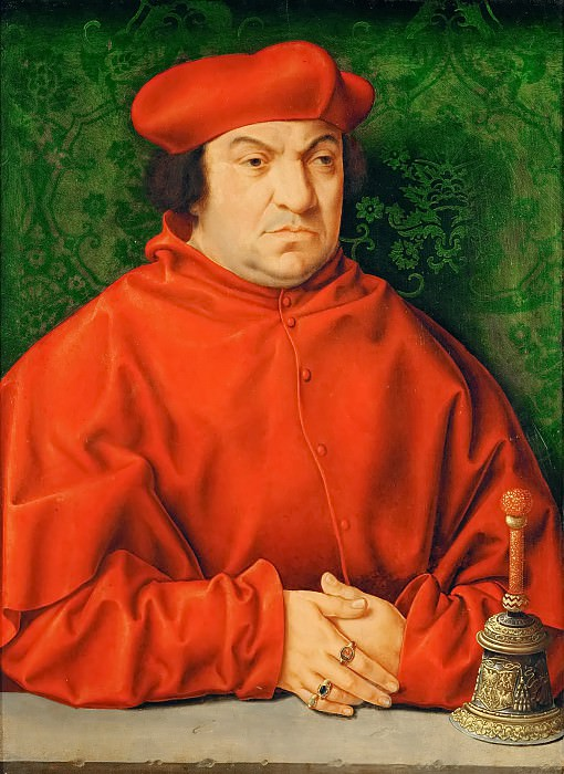 Bartholomaeus Bruyn the Elder(1493-1555) -- Cardinal Bernhardus Clesius (1485-1539). Kunsthistorisches Museum