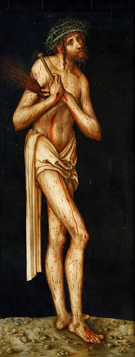 Lucas Cranach the elder -- Suffering Christ (Man of Sorrows). Kunsthistorisches Museum