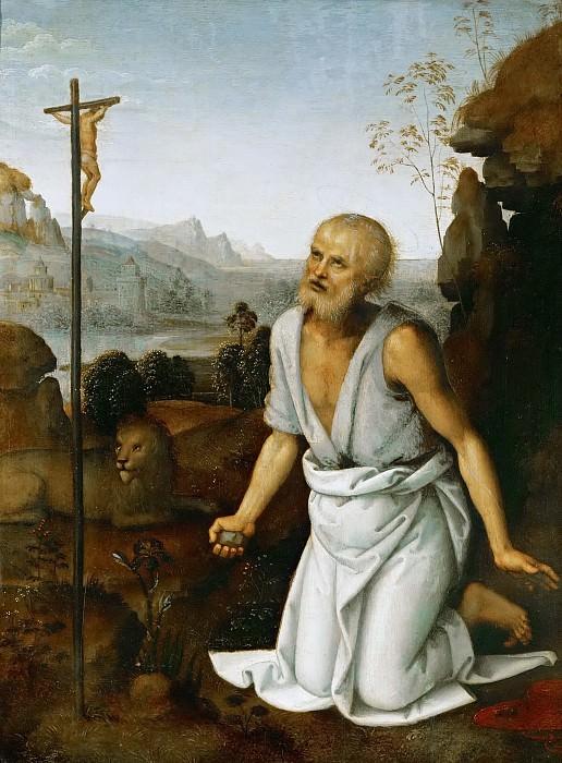 Perugino (c. 1450-1523) -- Saint Jerome Penitent. Kunsthistorisches Museum