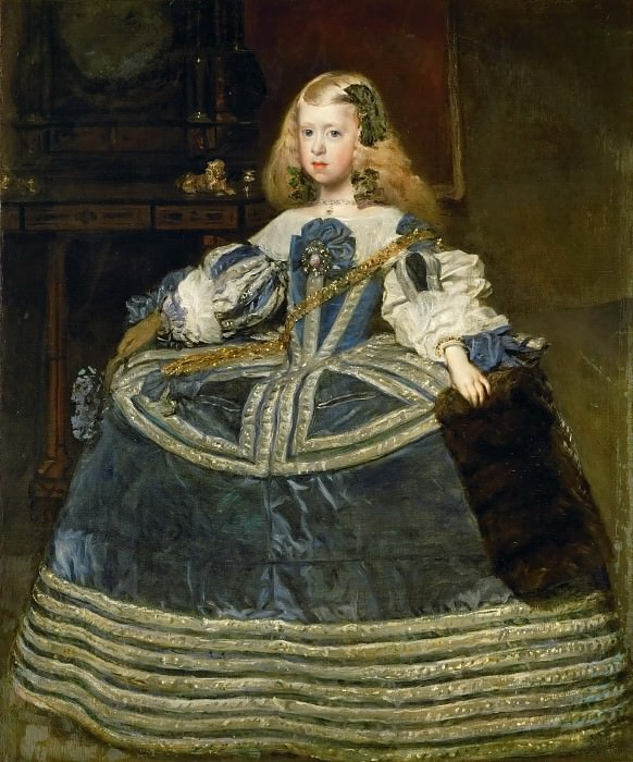 Diego Velázquez -- The Infanta Margarita Teresa in a Blue Dress. Kunsthistorisches Museum