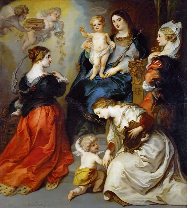 Theodor van Thulden -- The provinces of Brabant, Hennegau and Flanders pay homage to the Virgin.. Kunsthistorisches Museum