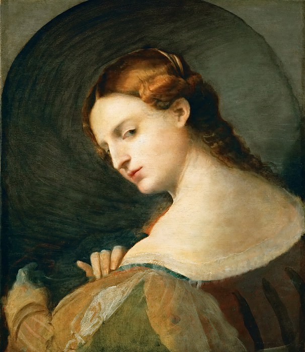 Jacopo Palma, il vecchio -- Portrait of a young woman in profile. Kunsthistorisches Museum