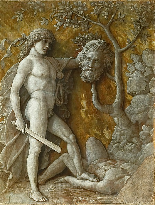 Andrea Mantegna -- David with the head of Goliath. Kunsthistorisches Museum