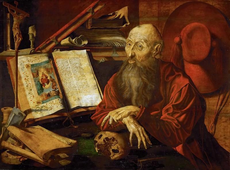 Marinus van Reymerswaele (c. 1490-c. 1567) -- Saint Jerome in Meditation. Kunsthistorisches Museum