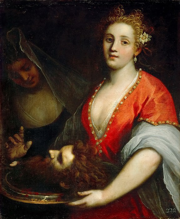 Jacopo Palma, il giovane -- Salome with the Head of Saint John the Baptist. Kunsthistorisches Museum