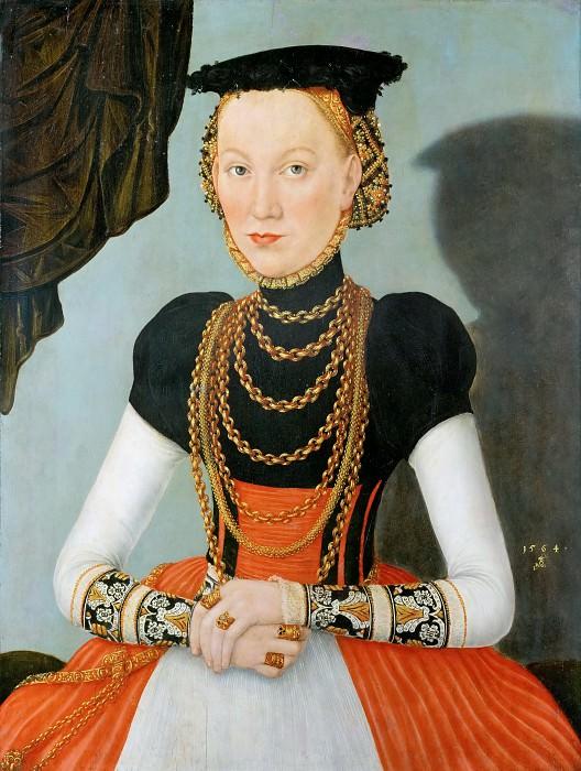 Лукас Кранах II - Портрет знатной дамы. Музей истории искусств