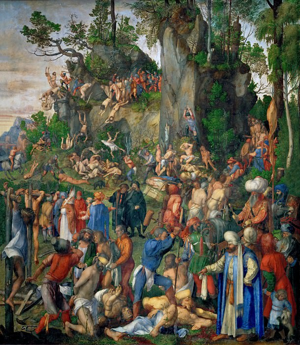 The Martyrdom of the Ten Thousand. Albrecht Dürer