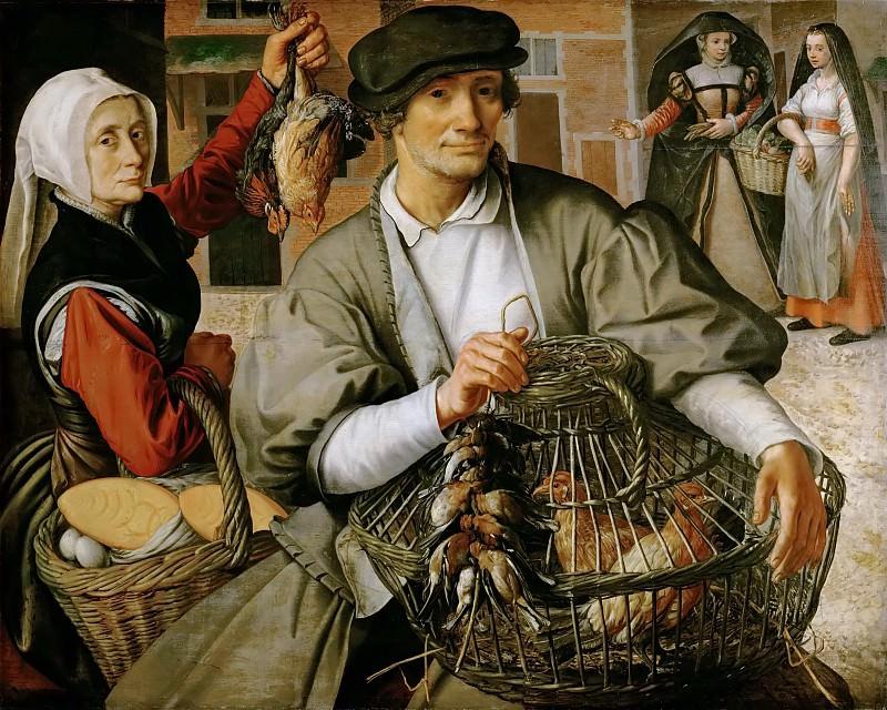 Aertsen,Pieter -- Market scene, around 1560 Oakwood, 91 x 112 cm Inv. 960. Kunsthistorisches Museum
