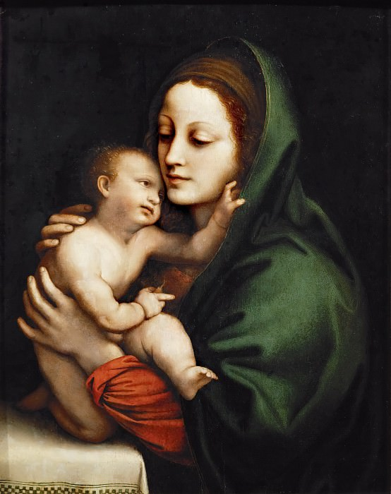 Bernardino Luini -- Madonna and Child. Kunsthistorisches Museum