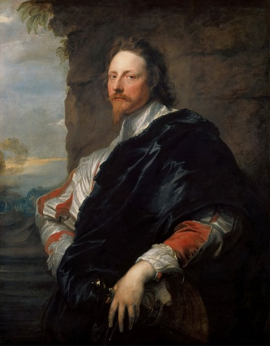 Anthony van Dyck -- Nicholas Lanier (1588-1666), Music Master and Art Director of the English Court. Kunsthistorisches Museum