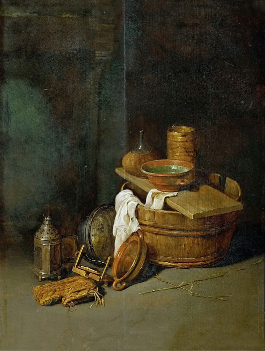 Robert van den Hoecke (1622-1668) -- Still Life with Household Utensils. Kunsthistorisches Museum