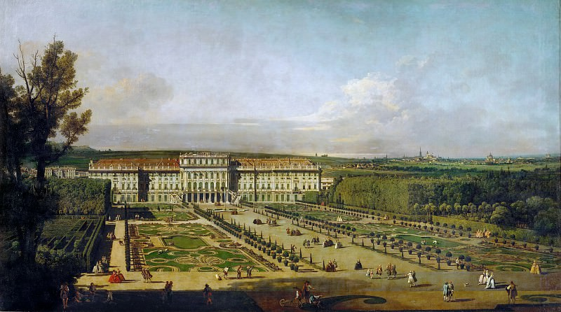 Bernardo Bellotto (1721-1780) -- Schönbrunn Palace in Vienna, as Seen from the Gardens. Kunsthistorisches Museum