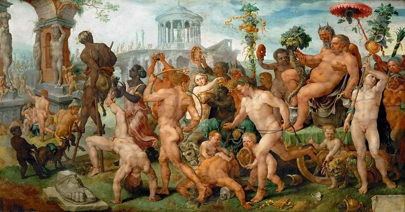 Maerten van Heemskerck (1498-1574) -- Triumph of Silenus. Kunsthistorisches Museum