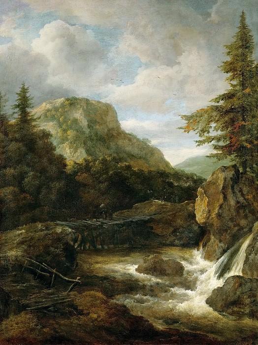 Jacob van Ruisdael (1628 or 1629-1682) -- Mountain Landscape with Waterfall. Kunsthistorisches Museum