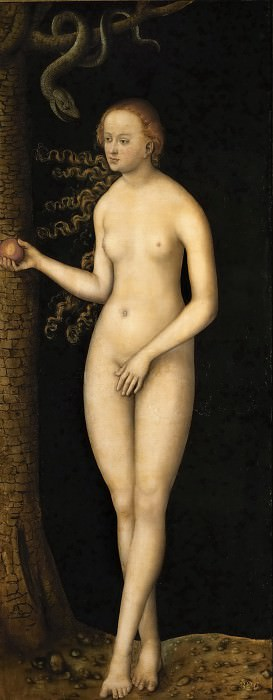 Lucas Cranach the elder -- Eve. Kunsthistorisches Museum
