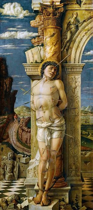 Andrea Mantegna -- Saint Sebastian. Kunsthistorisches Museum