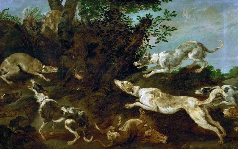 Paul de Vos -- Boar-hunt. Kunsthistorisches Museum