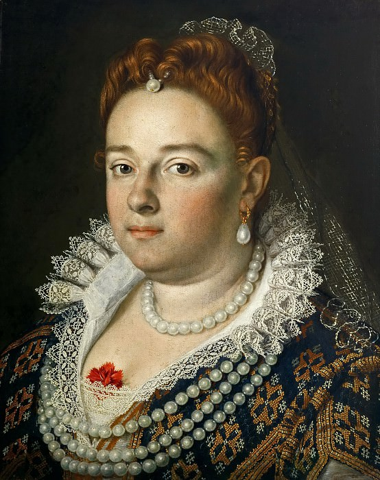Scipione Pulzone (before 1550-1598) -- Bianca Cappello, Grand Duchess of Tuscany (1548-1587). Kunsthistorisches Museum