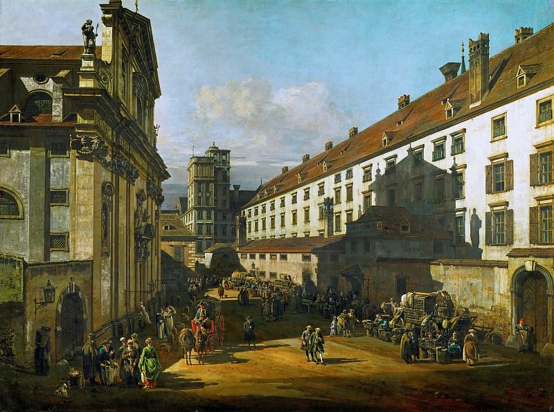 Bernardo Bellotto (1721-1780) -- Dominikanerkirche in Vienna. Kunsthistorisches Museum