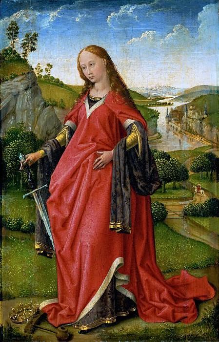 Rogier van der Weyden -- Saint Catherine of Alexandria. Kunsthistorisches Museum