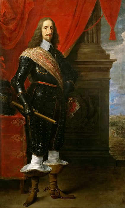 David Teniers II -- Archduke Leopold Wilhelm, with the Siege of Gravelingen. Kunsthistorisches Museum