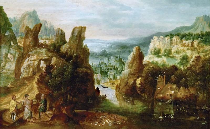 Херри мет де Блес - Пейзаж с апостолами на дороге в Эммаус. Музей истории искусств