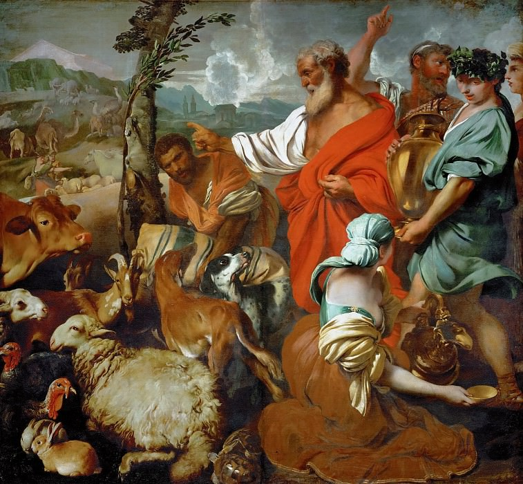 Giovanni Benedetto Castiglione (1609-1664) -- Noah and the Animals. Kunsthistorisches Museum
