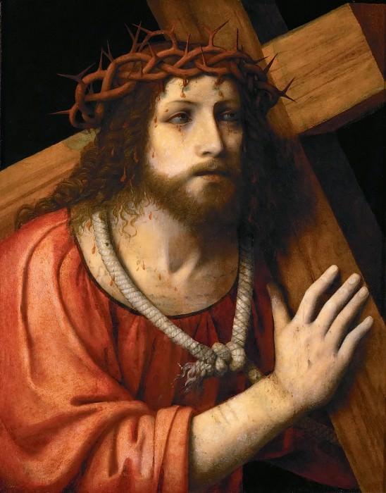 Bernardino Luini -- Christ carrying the Cross. Kunsthistorisches Museum