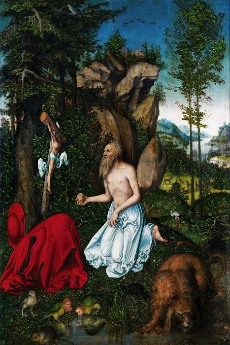 Lucas Cranach the elder -- Saint Jerome. Kunsthistorisches Museum