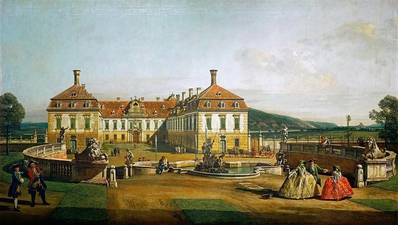 Bernardo Bellotto (1721-1780) -- Schlosshof Castle as Seen from the Garden. Kunsthistorisches Museum