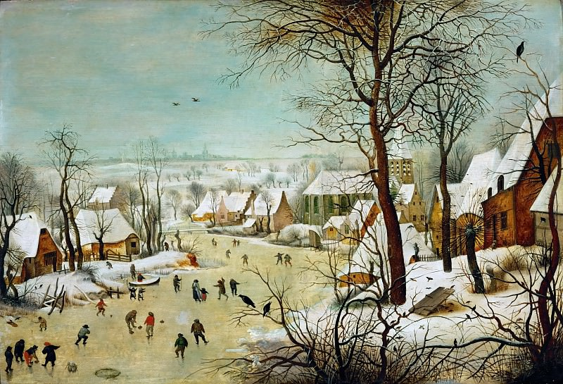 Winter Landscape. Pieter Brueghel the Younger