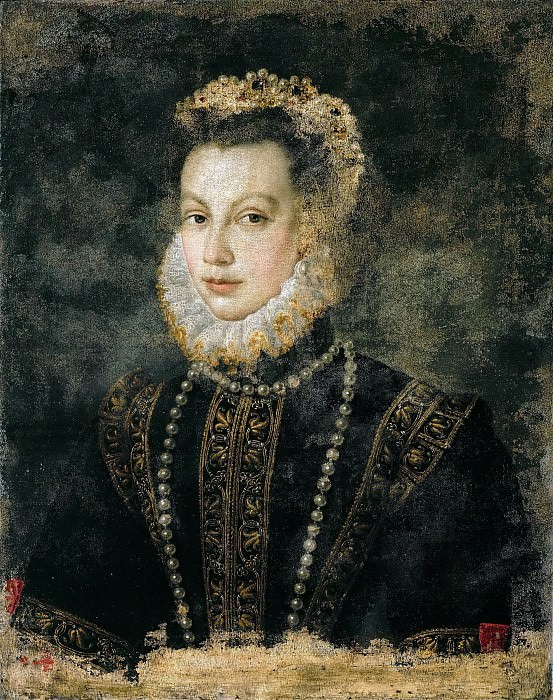 Anguissola,Sofonisba -- Isabella of Valois (1545-1568), wife of Philip II, King of Spain, daughter of Catarina de' Medici and King Henri II of France. Around 1568 Canvas, 68 x 54 cm Inv. 3351. Kunsthistorisches Museum