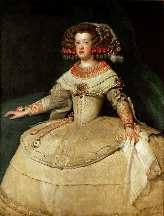 Diego Velázquez -- Maria Teresa, Infanta. Kunsthistorisches Museum