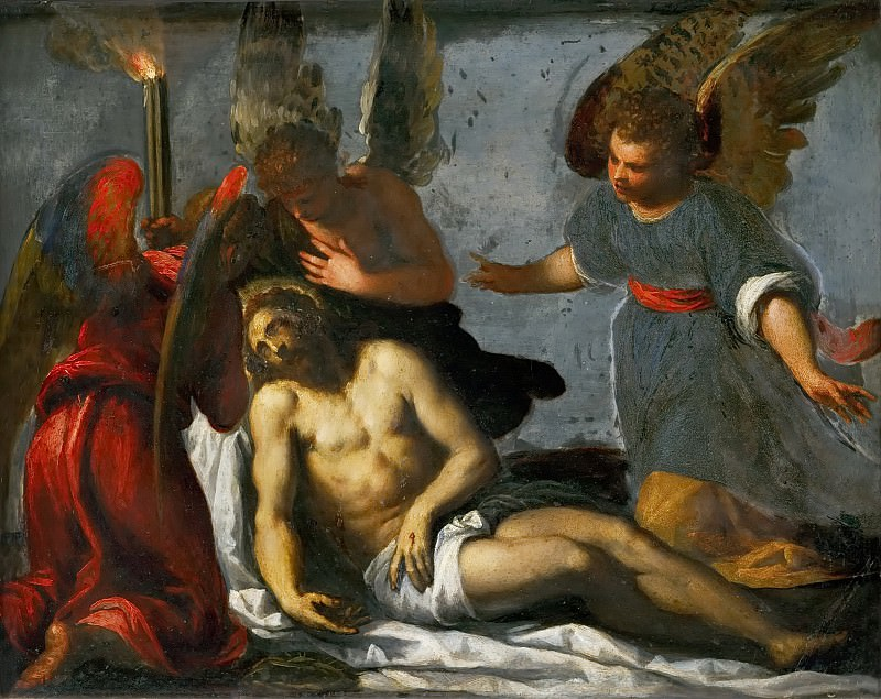 Jacopo Palma, il giovane -- Dead Christ mourned by angels. Kunsthistorisches Museum