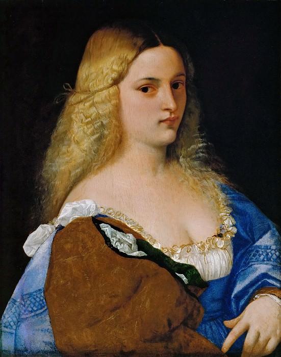 Titian -- Violante. Kunsthistorisches Museum