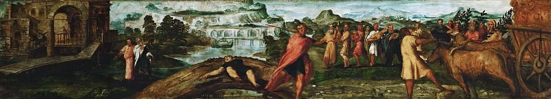 Jacopo Tintoretto -- Transport of the Ark of the Covenant. Kunsthistorisches Museum