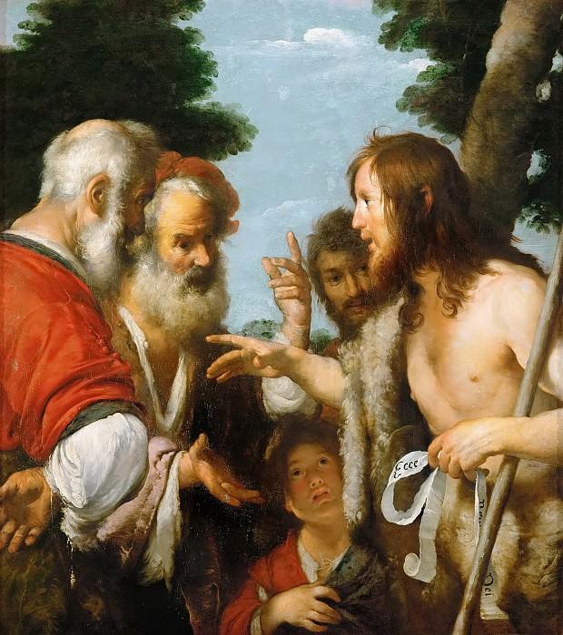 Bernardo Strozzi -- John the Baptist Preaching. Kunsthistorisches Museum