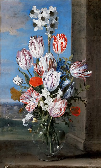 Ambrosius Bosschaert the Younger (1609-1645) -- Still Life with Tulips. Kunsthistorisches Museum