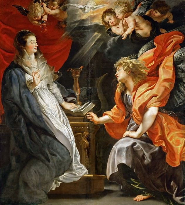 Peter Paul Rubens -- Annunciation. Kunsthistorisches Museum