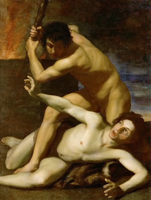 Bartolomeo Manfredi -- Cain killing his brother. Kunsthistorisches Museum