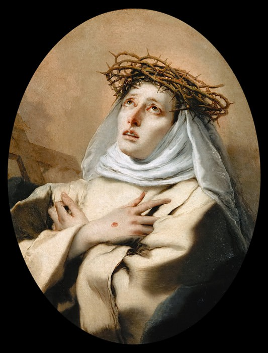 Giovanni Battista Tiepolo -- Saint Catherine of Sienna. Kunsthistorisches Museum