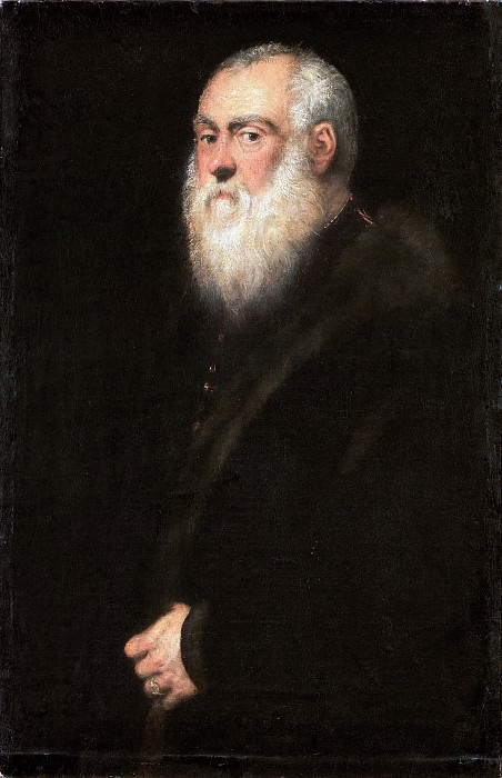 Jacopo Tintoretto -- Portrait of an Elderly Man with a White Beard. Kunsthistorisches Museum