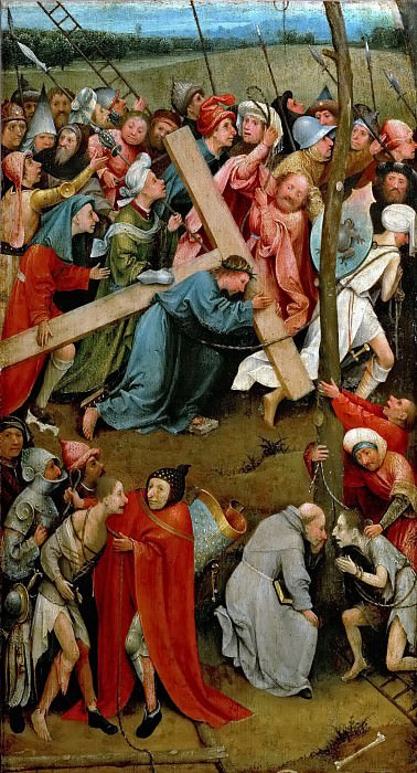 Hieronymus Bosch -- Christ Carrying the Cross. Kunsthistorisches Museum