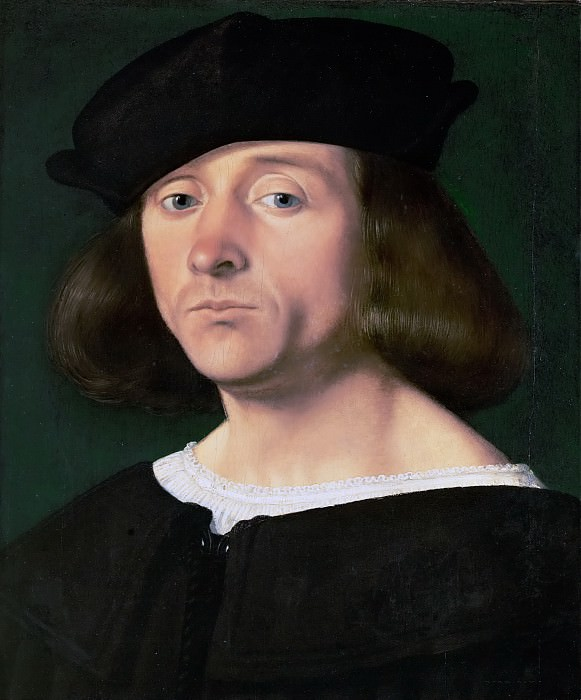 Andrea Previtali (c. 1470-1528) -- Portrait of a Young Man. Kunsthistorisches Museum